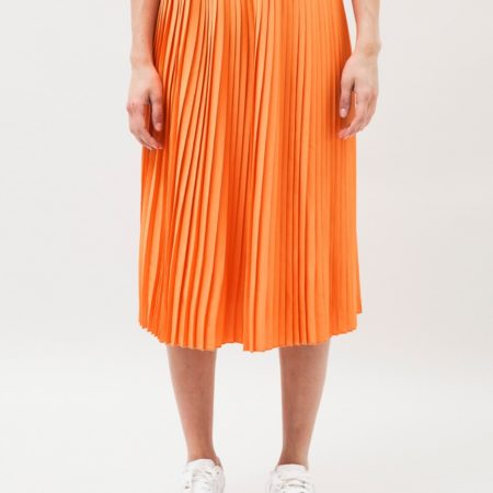 Dr DenimKambria Midi Skirt inOff-Grid Orange