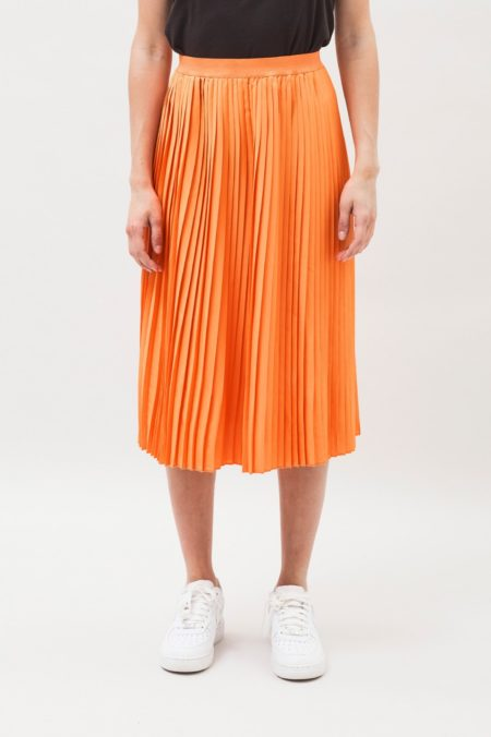 Dr Denim Kambria Midi Skirt in Off-Grid Orange