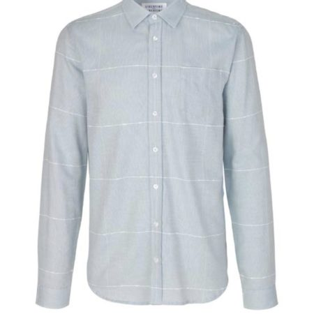 Libertine-Libertine Lynch Version Shirt in Sky Blue Check