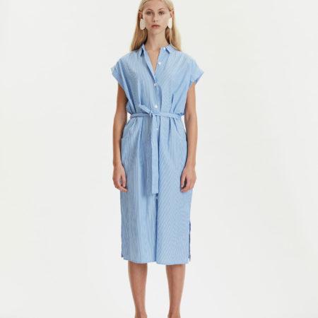 Libertine-LibertineUnit Free Shirt Dress in Blue Stripe