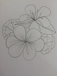 flower label design 1
