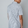 Native Youth Murphy Short Sleeve Shirt in Grey Stripe