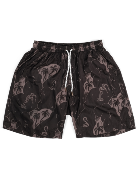 The Dudes Palms & Snakes Swim Shorts