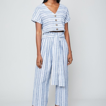 Native Youth Shemiah Trousers in Blue Stripe