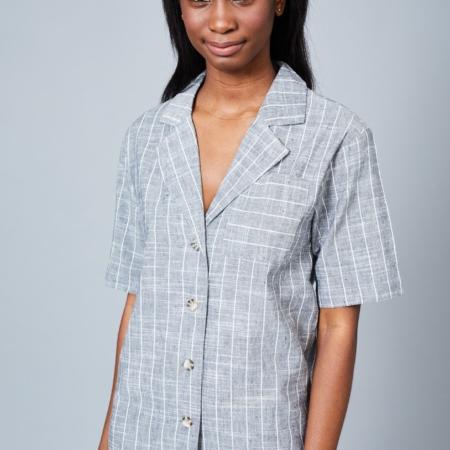 Native Youth Grey Stripe Dress