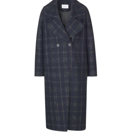 Libertine-Libertine Chart Paid Coat in Navy/Check