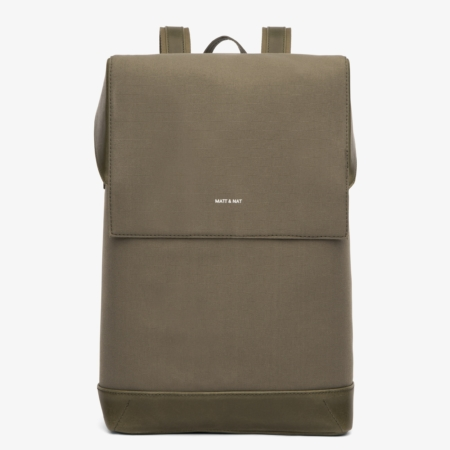 Matt & Nat Hoxton Canvas Backpack in Olive