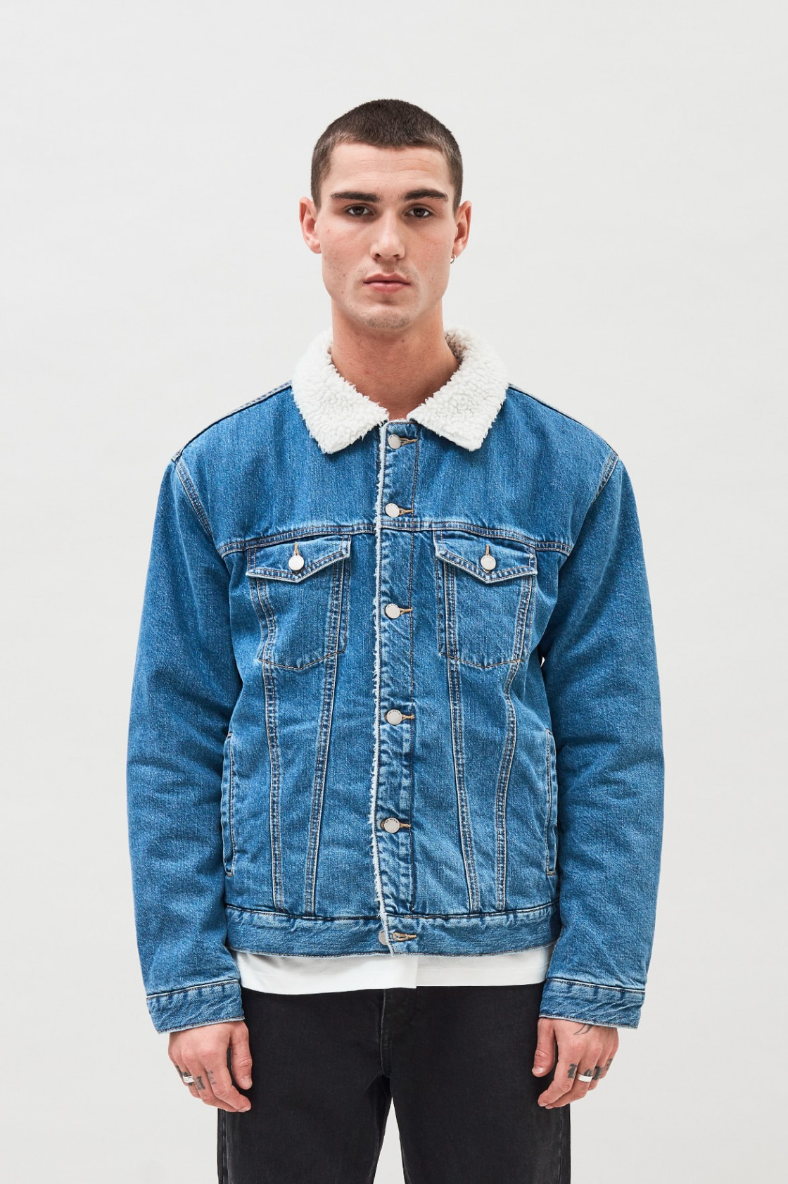 Dr Denim Caleb Sherpa Jacket - Fishboy PZ   Fashion   Cornwall