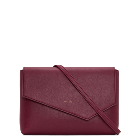 Matt & Nat Riya Dwell Clutch Bag in Garnet