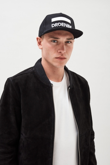 Dr Denim Cay Snapback Cap in Black