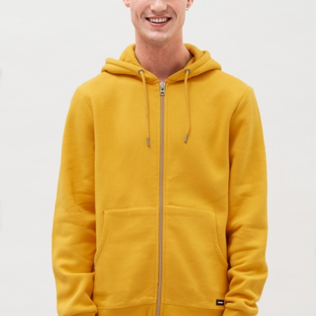 Dr Denim Exton Hoodie in Gold Digger Yellow