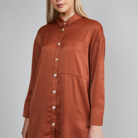 Native Youth Sofia Blouse in Rust