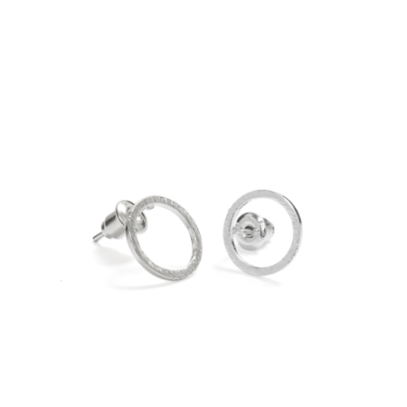 A Weathered Penny Silver Circle Stud Earrings