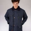 Peregrine Hybrid Fleet Jacket in Navy/Orange