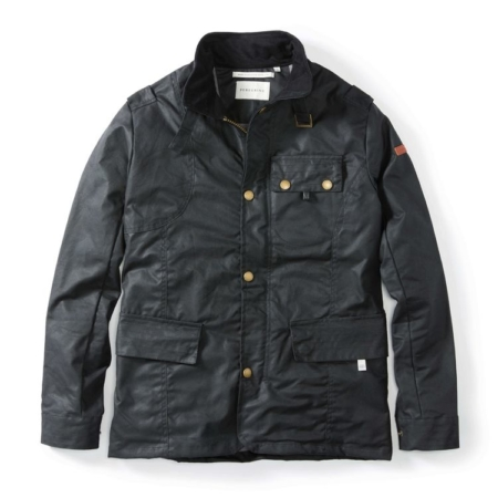 Peregrine Bexley Waxed Jacket in Black