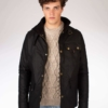 Peregrine Bexley Waxed Jacket in Black