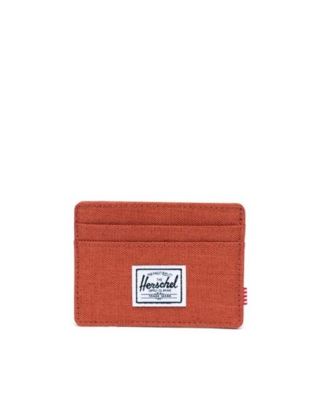 Herschel Supply Co Charlie Card Holder Wallet in Picante Crosshatch.