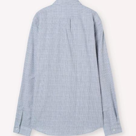 Libertine-Libertine Lynch Social Shirt in White & Blue Check