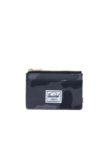 Herschel Supply Co Oscar Card Holder Wallet in Night Camo