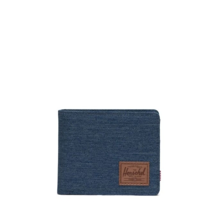 Herschel Supply Co Roy Coin Wallet in Indigo Crosshatch.