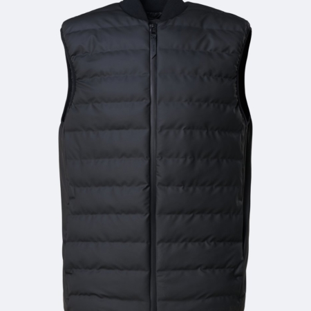 Rains Waterproof Trekker Vest in Black.