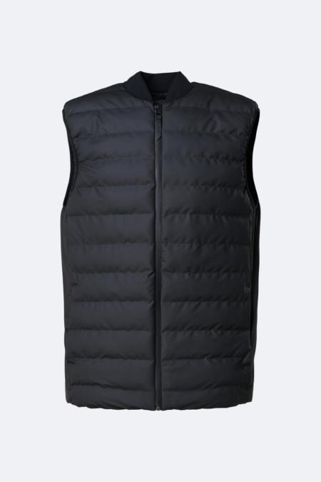 Rains Waterproof Trekker Vest in Black.