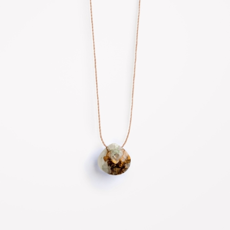 Wanderlust Life Copper Calcite Fine Cord Necklace