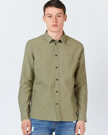 Dr Denim Dale Shirt in Light Emerald