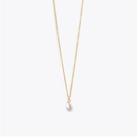 Wanderlust Life Fine Gold White Pearl Necklace