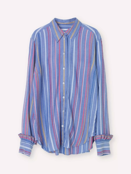 Libertine-Libertine Point Shirt in Multi Stripe