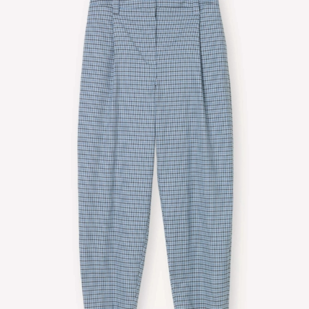 Libertine-Libertine Repeat Trousers in Light Blue Check