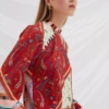 Libertine-Libertine Taste Blouse in Red Tile