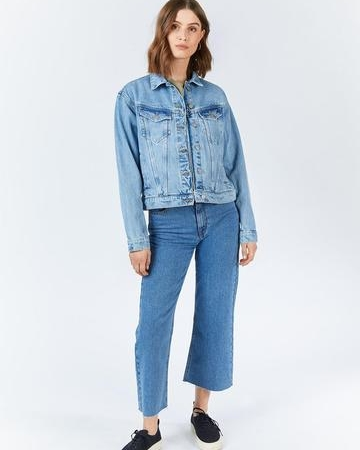Dr Denim Alva Denim Jacket in Destiny Blue