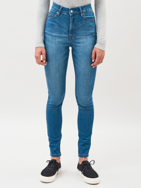 Dr Denim Erin Jeans in Blue Bite