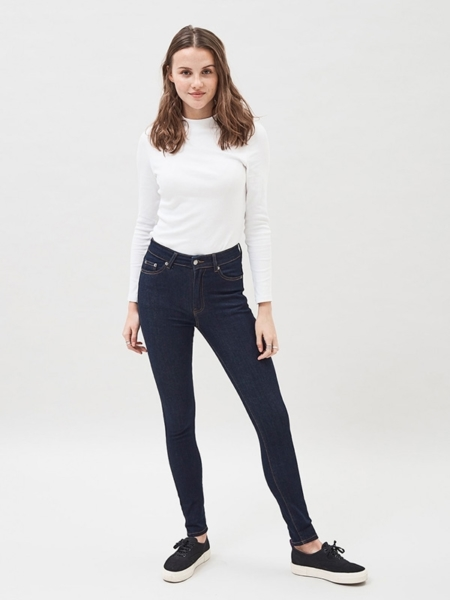 Dr Denim Erin Jeans in Rinsed Blue