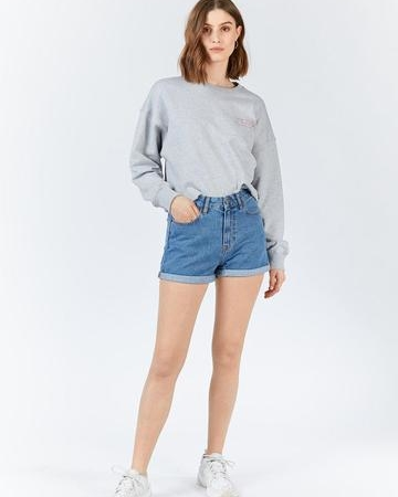 Dr Denim Jenn Shorts in Retro Sky Blue