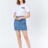 Dr Denim Mallory Denim Skirt in Retro Sky Blue