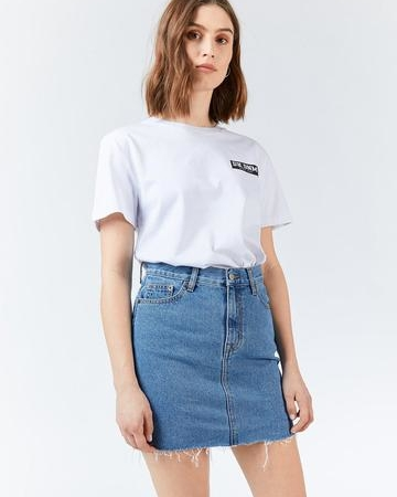 Dr Denim Mallory Denim Skirt in Retro Sky Blue