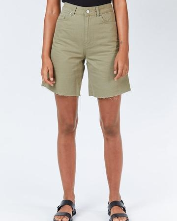 Dr Denim Meja Shorts in Green Agate