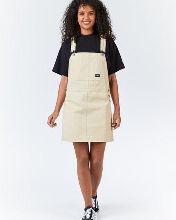 Dr Denim Michigan Pinafore Dress in Desert