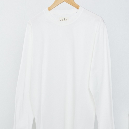Lals Fisherman Long Sleeve Tee in Off-White