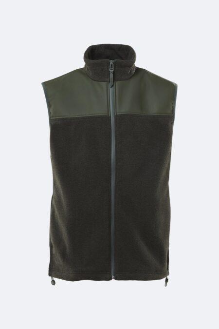 Rains Fleece Vest in Green