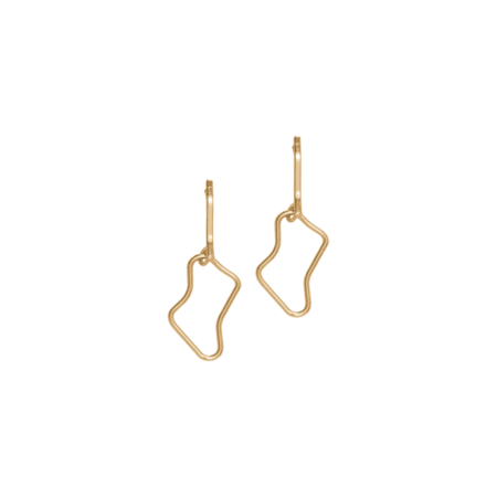 A Weathered Penny Freya Earrings in Gold