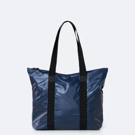 Rains Tote Rush Bag in Shiny Blue
