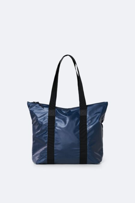Rains Tote Rush Bag in Shiny Blue