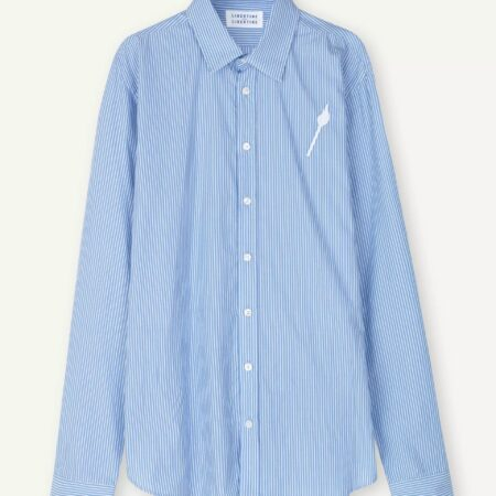 Libertine-Libertine Babylon Tempo Shirt in Panel Blue