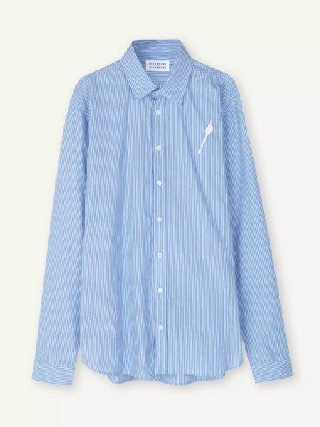 Libertine-Libertine Babylon Tempo Shirt in Panel Blue