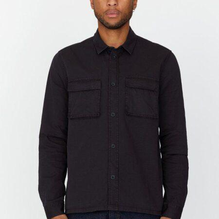Dr Denim Cade Shirt in Washed Black