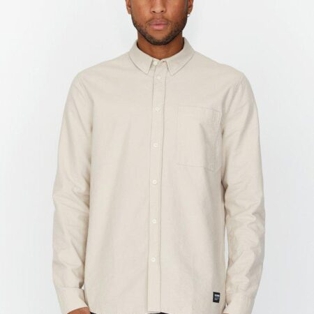 Dr Denim Dale Shirt in Cashew