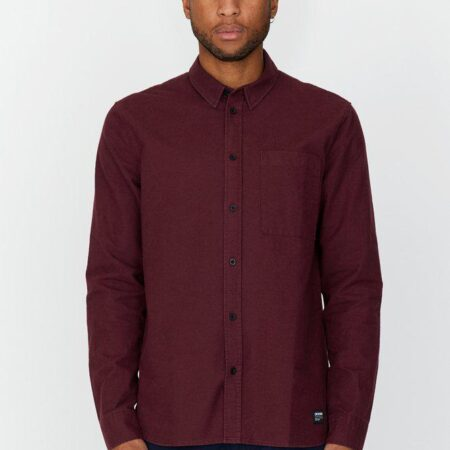Dr Denim Dale Shirt in Mulberry Wine